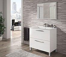 HABITMOBEL Mueble de Baño con Espejo y Lavabo