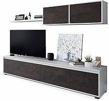 HABITMOBEL Mueble de Comedor Moderno (Blanco Artik