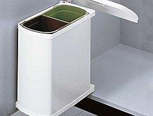 Hailo Cubo de basura Duo 45 blanco, 2 x 8 litros,
