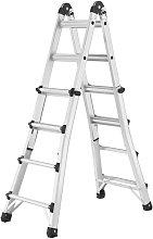 Hailo Escalera telescópica MTL 123 cm aluminio