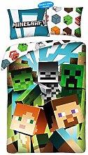 Halantex Minecraft Juego de Cama, Funda Nórdica,