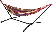 Hamaca con soporte de metal - Multicolor -