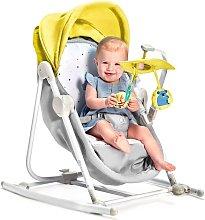Hamaca mecedora para bebés 5-en-1 UNIMO amarillo