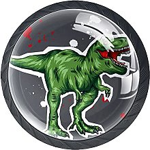 Haminaya Tiradores Armario Dinosaurio Verde