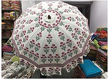 HandBlock Mughal Prints - Paraguas decorativo de