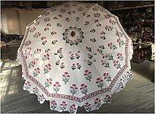Handblock Mughal Prints - Paraguas decorativo para