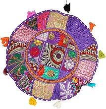 Handicraft Bazarr Funda de cojín de algodón,
