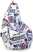 HAPPERS Puff Pera Polipiel Indoor London XL