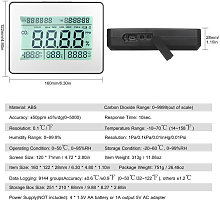 Happyshop - Detector de dioxido de carbono, mide