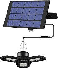 Happyshopping - Luz LED solar para garaje para
