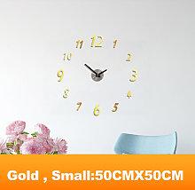 Happyshopping - Reloj de pared DIY sin marco,