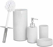 Harbour Housewares Set de baño de 4 Piezas -