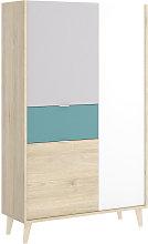 Hd Deco - Armario Salon Aparador 3 compartimentos