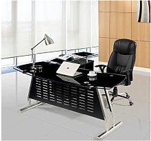 Hd Deco - Mesa despacho oficina oval, mueble a