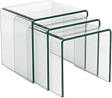 Hd Deco - Mesa NIDO TRI - tres mesas -, cristal