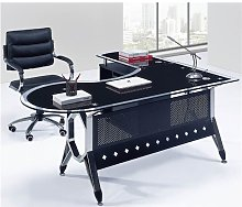 Hd Deco - Mesa oficina forma bivalente, mueble a