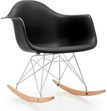 Hd Deco - Sillon de diseño balancin, madera, ABS
