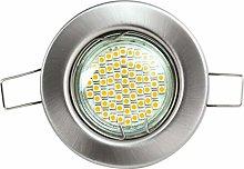 Heitronic Lámpara de techo GU5.3, 50 W, plata,
