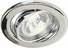 Heitronic Luz empotrable GU5.3, 50 W, plata, 0.0 x