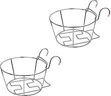 Hemoton 2 Piezas de Maceta Colgante de Acero