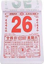 Hemoton 2022 Calendario de Pared Diario 2022