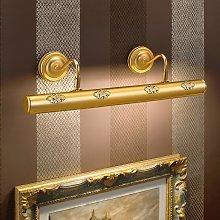 Henrika - lámpara para cuadros dorada, decoración