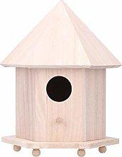 HERCHR Casa de Madera para pájaros, Caja de
