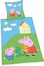 Herding Peppa Pig - Juego de Cama Reversible (80 x