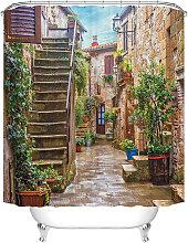 Hermosa cortina de ducha de jardín impermeable