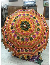 Hermoso paraguas de jardín bohemio, hecho a mano