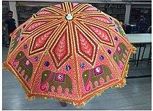 Hermoso paraguas de jardín de estilo bohemio,