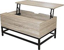 HEUTE Mesa de café, mesa de salón con espacio de