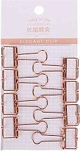 HEYXI Clip de Carpeta de diseño Ahuecado de Metal
