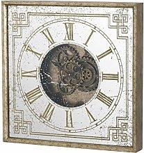 Hill Interiors - Reloj Cuadrado con Espejo y