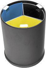 Hiperlimpieza - Cubo reciclaje 13L 3 cubos colores