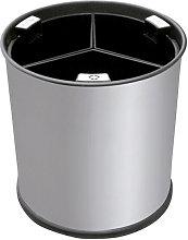Hiperlimpieza - Cubo reciclaje inox 13L 3 cubos