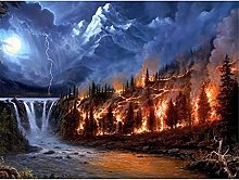 HJHJHJ Puzzle for Adults 6000 Piece (Forest Fire)