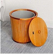 HJYSQX Bote de Basura de bambú para Dormitorio