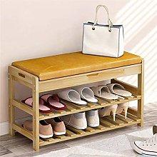 HLL Moda simple zapatos de madera maciza banco