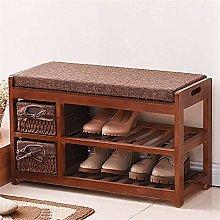 HLL Zapatero simple zapatero de madera maciza para