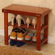 HLL Zapatos de bambú granate Zapatos de banco