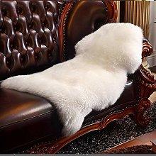 HLZDH Alfombra, piel de oveja, imitación de