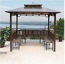 HLZY Gazebo de Muebles de jardín 10x10 FT Villa