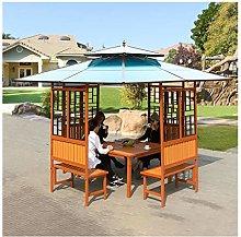 HLZY Gazebo de Muebles de jardín Madera Jardín