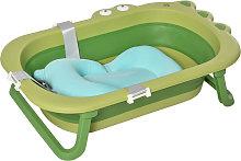 HOMCOM Bañera Plegable para Bebé de 0-3 Años