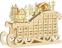 HOMCOM Calendario de Adviento de Navidad con Luces