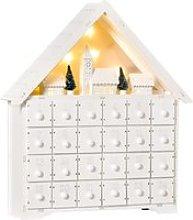 HOMCOM Calendario de Adviento de Navidad Madera