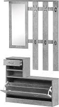 HOMCOM Conjunto Muebles de Entrada Recibidor