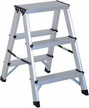 HOMCOM Escalera de Tijera Aluminio Plegable