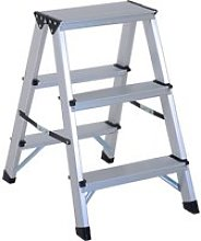 HomCom® Escalera de Tijera Aluminio Plegable